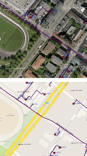 Det kan velges mellom flere typer Google-kart som kan slåes på som bakgrunnskart.